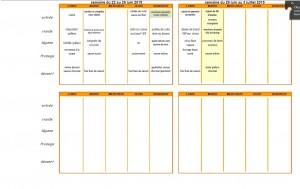 Menus 22 - 30 juin